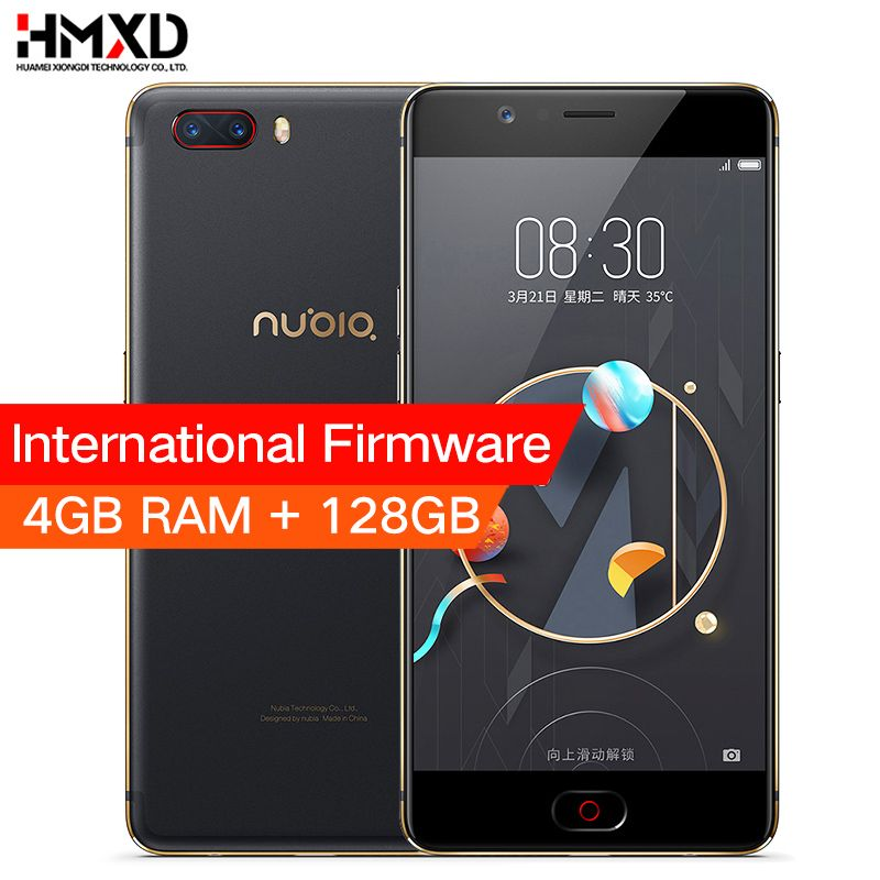Original ZTE Nubia M2 4GB RAM 128GB ROM 5.5 inch 1080P 13.0MP+13.0MP Dual Rear Camera Snapdragon 625 Octa Core Mobile Phone