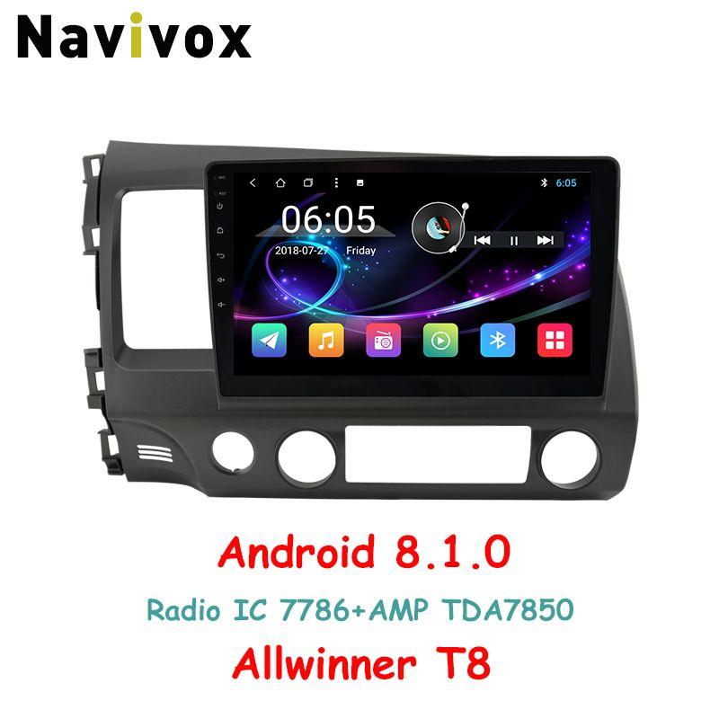Navivox 10,1 ''Full Touch Android 8.1 Auto GPS Navigation-Player Für Honda Civic 2006-2011 RDS/WIfi/ BT/SWC/3g/4g HD1080P (keine dvd)