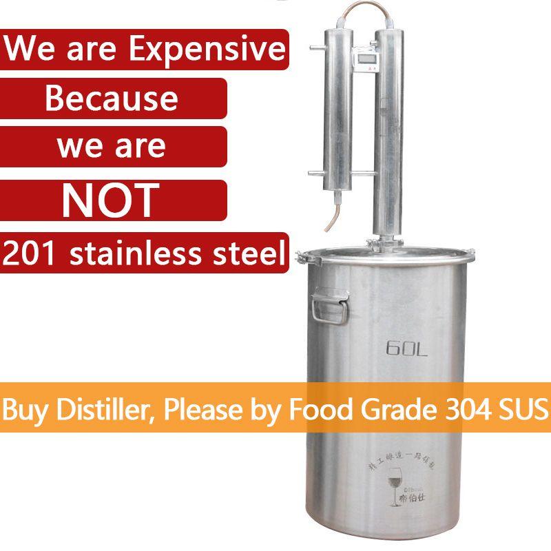 60L Destylator Elektrische Heizung Moonshine Alkohol Destiller Wodka Destilador Brennereien für Moonshine Destillation Spalte