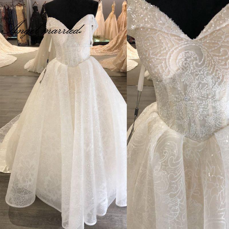 Engel verheiratet neue hochzeit Kleider mit schwanz schatz cap sleeve perlen kristall frauen braut kleid vestidos de novia 2019