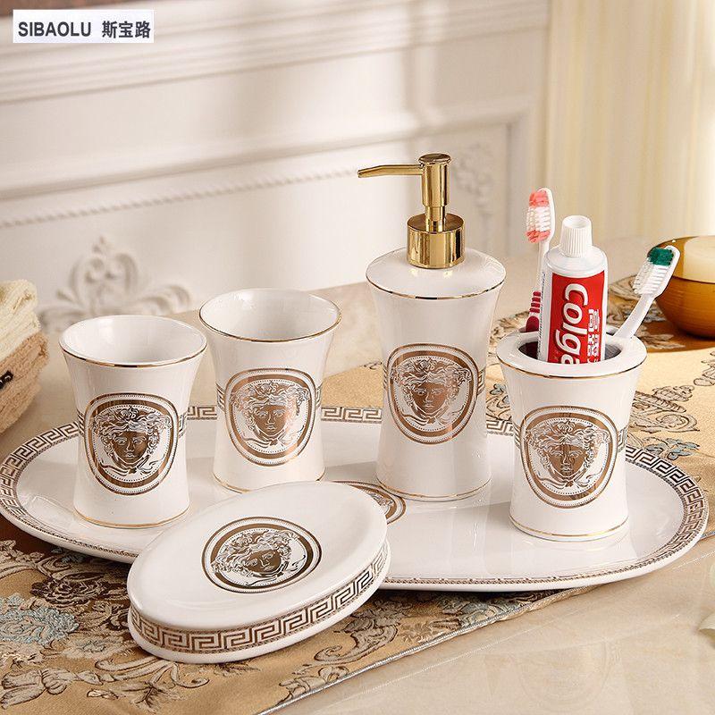 Зубная щётка держатель дозатор для жидкого мыла Мыло блюдо зуб кружка Ванная комната набор керамической Наборы для ванной туалет Интимные ...