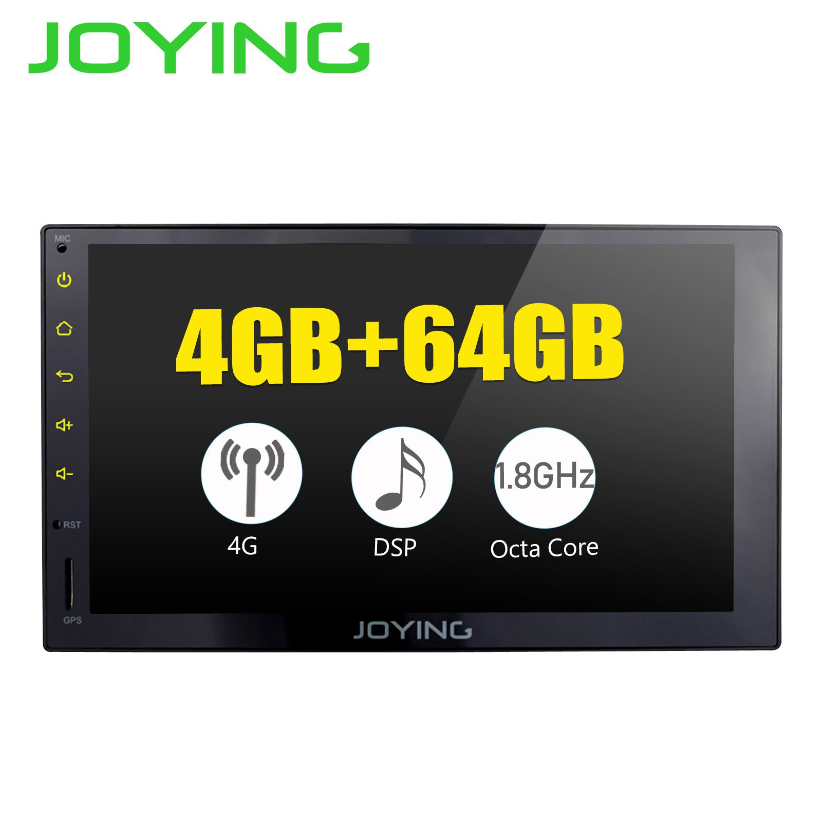 JOYING 4G RAM Android 8.1 2 Din Band recorder Stereo 7