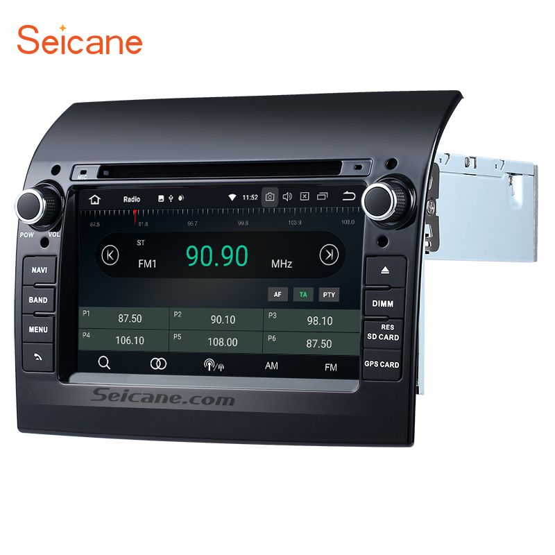 Seicane Aftermarket 8-Core Android 8.0 Ram 4G car DVD stereo unit multimedia Player GPS Navi for 2007-2016 Fiat Ducato with AUX