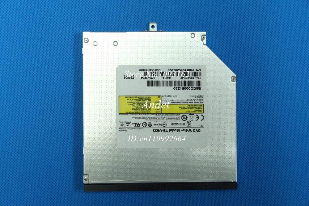 for TS-U633 Laptop Internal 9.5mm SATA Optical Drive Super Multi Dual Layer 8X DVD RW DL Burner 24X CD-R Writer