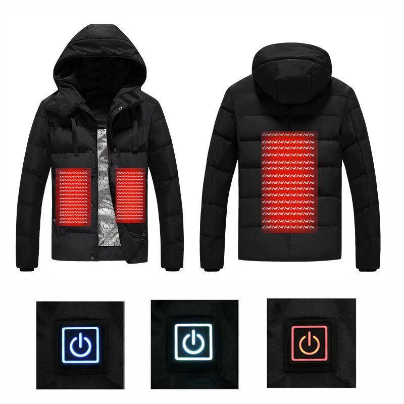 2018 männer Winter Outdoor USB Infrarot Heizung Mit Kapuze Jacke Elektrische Thermische Kleidung Mantel Für Sport Klettern Wandern