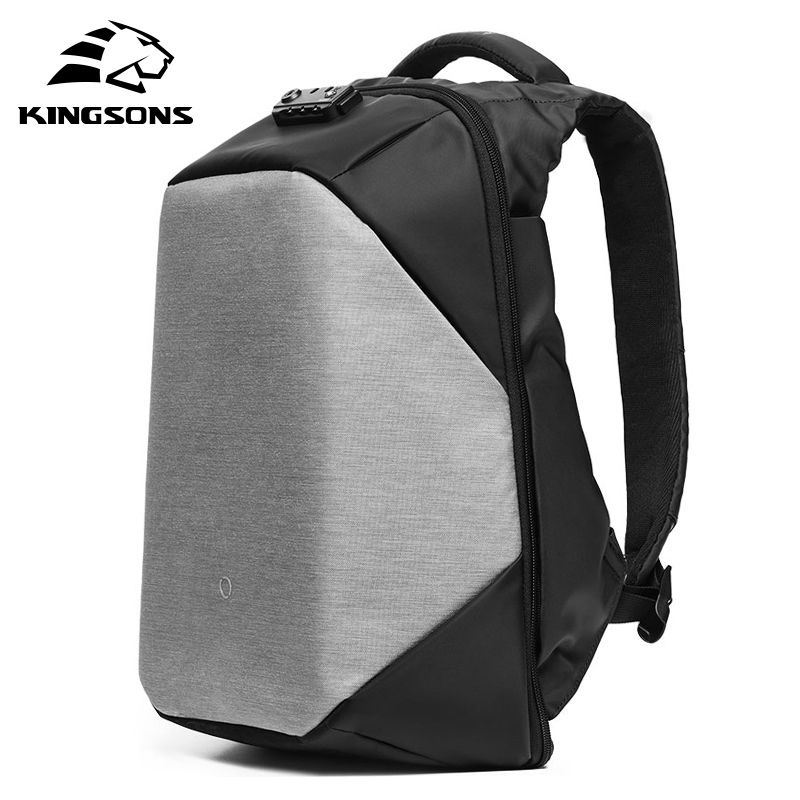 KINGSONS Anti-theft Waterproof 15.6 Inch Laptop Backpack New Design for Men and Women Computer Bag Travel Business Hot Selling