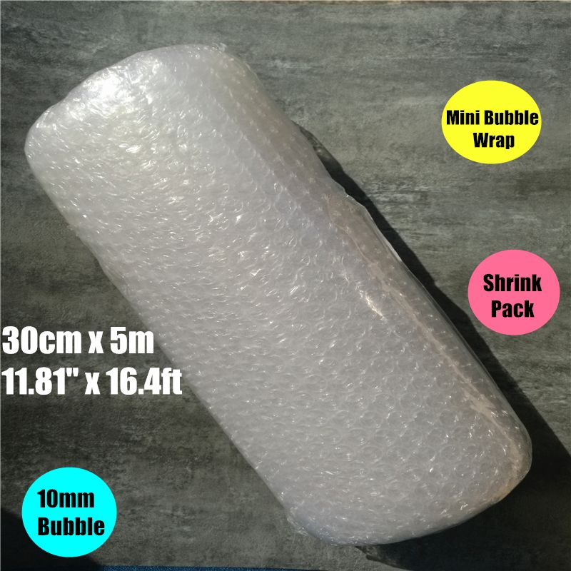 0.3*5m shrink pack Burbuja Cushion Bubble Roll wrap Polietileno Emballage Bulle Packing Film Materials Noppenfolie Verpakking