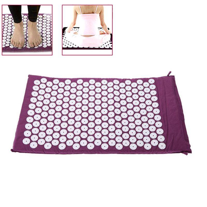 Coussin de massage tapis d'acupression soulager le stress douleur acupuncture pic yoga mat avec oreiller/sans oreiller yf2017