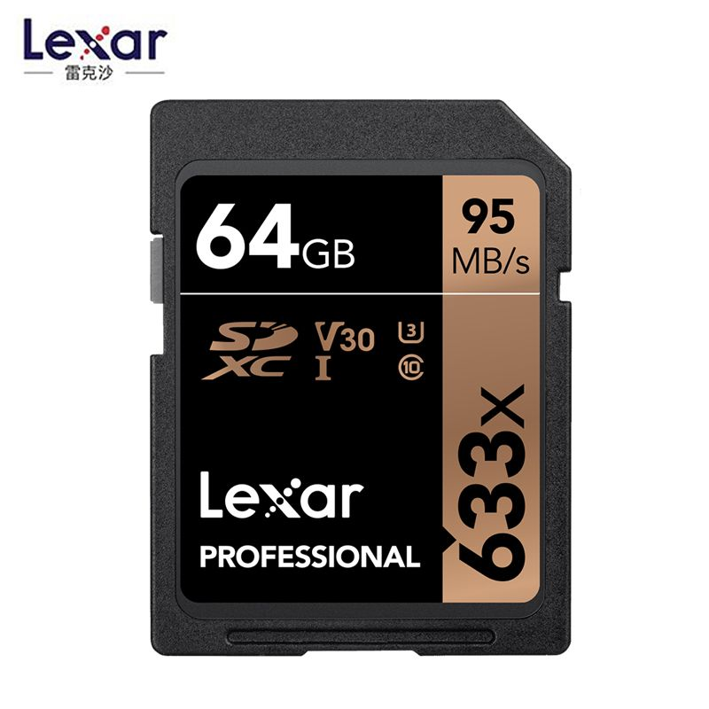 Original Lexar 95M/s 633x 16G 32GB U1 SDHC 64GB 128GB 256GB U3 SD Card SDXC Class 10 Memory Card For 1080p 3D 4K video Camera