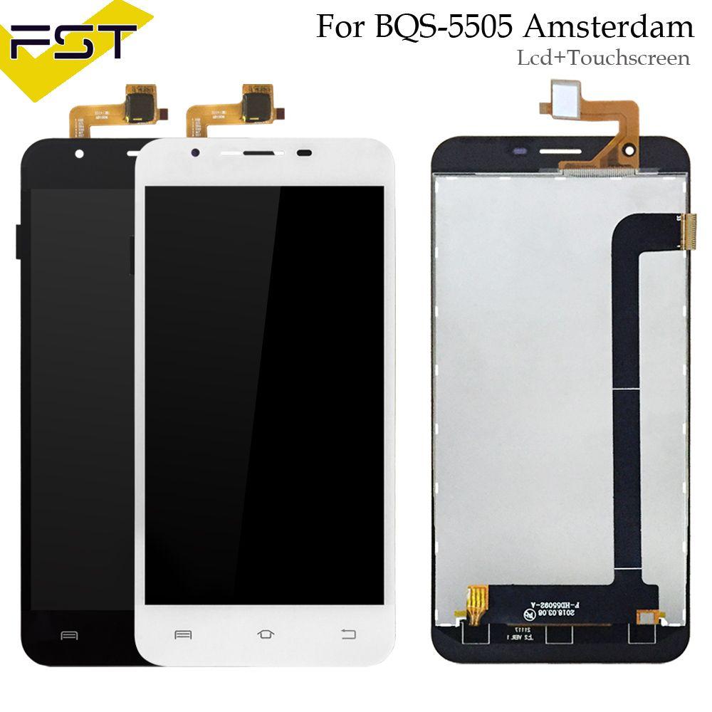 Pour BQS-5505 Amsterdam BQ S 5505 BQS 5505 Écran LCD Display + Écran Tactile Digitizer Assemblée Pièces De Rechange + Outils