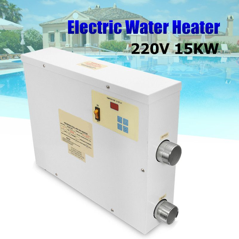 Top SPA Heater 15KW 220V Electric Swimming Pool and SPA Bath Heating Tub Water Heater Thermostat 220V Swimming Pool Accessories