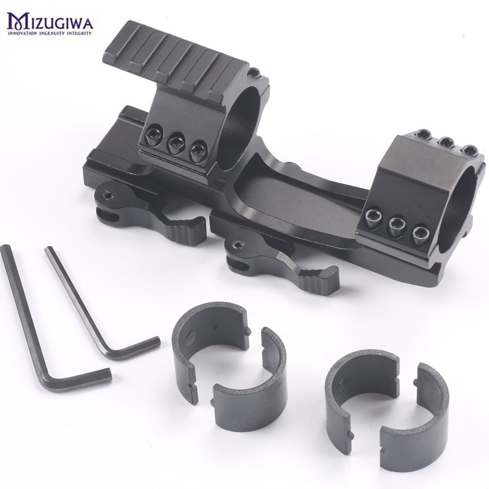 1pc Tactical Heavy Duty Quick Release cantilever Scope Rail Mount Ring 20mm Mount Rifle Scope Weaver Tri-Rail 30/25.4mm Hunting