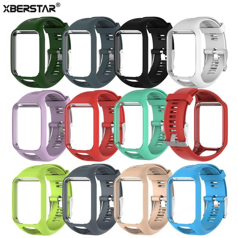 XBERSTAR TPE Wrist Band Watch Strap For TomTom Runner 2/3 Adventurer/Golfer 2 Spark/Spark 3 Watchbands Strap GPS Watch New Hot