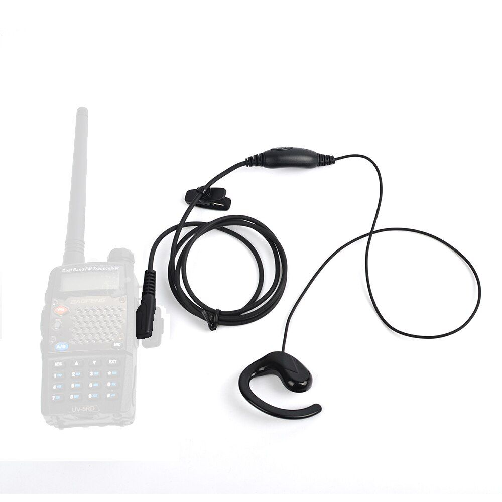HYS Earhook Earpiece Headset for Walkie Talkie Two Way Radio Kenwood TH-22A TH-235 TK-378 Baofeng UV-82 UV-5RC BF-777