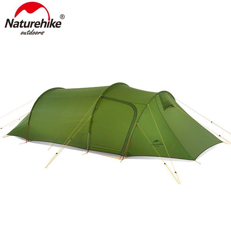 Naturehike Opalus Tunnel Zelt Im Freien 2-3 Personen Camping Zelt 20D Silikon/210 T Polyester stoff Zelt NH17L001-L freies footprint