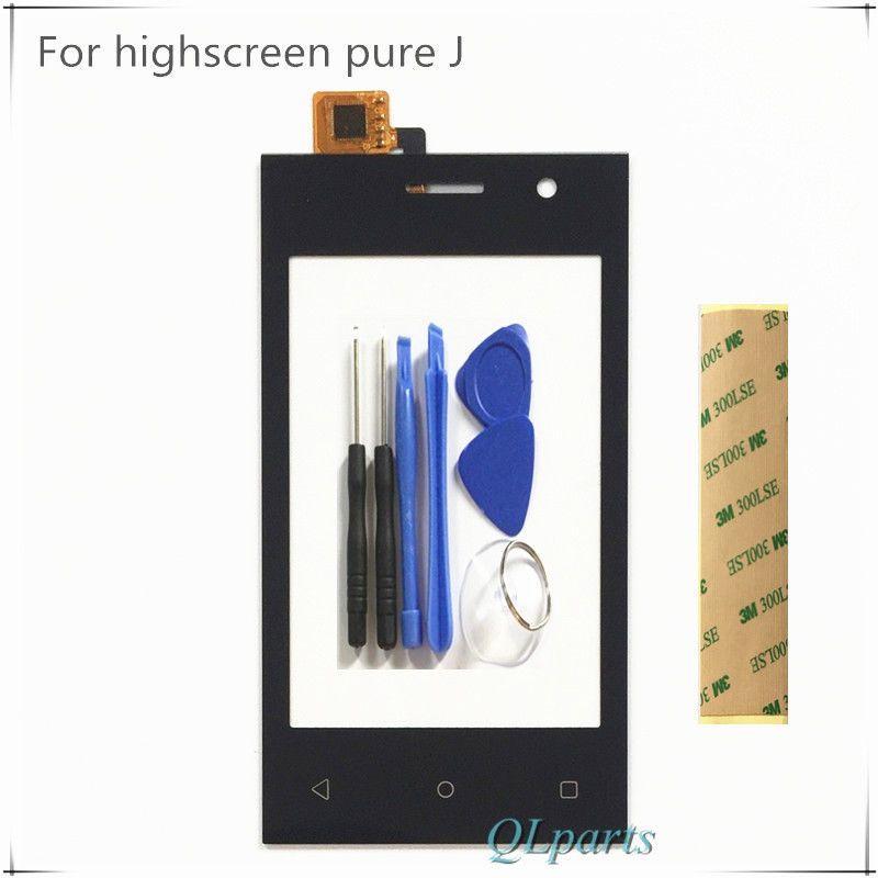 Mobile Téléphone Capteur Écran Tactile Avant Verre Pour Highscreen Pur J Tactile Écran Numériseur SmartPhone + Outils Autocollant Bande