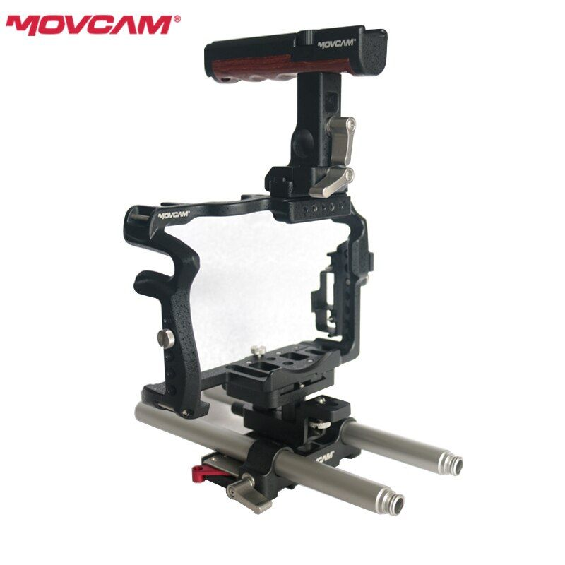MOVCAM GH5 Rig cage kit for Panasonic GH4 GH5 Camera 15mm rod quick release Base Top handle HDMI Cable protect DHL Free shipping