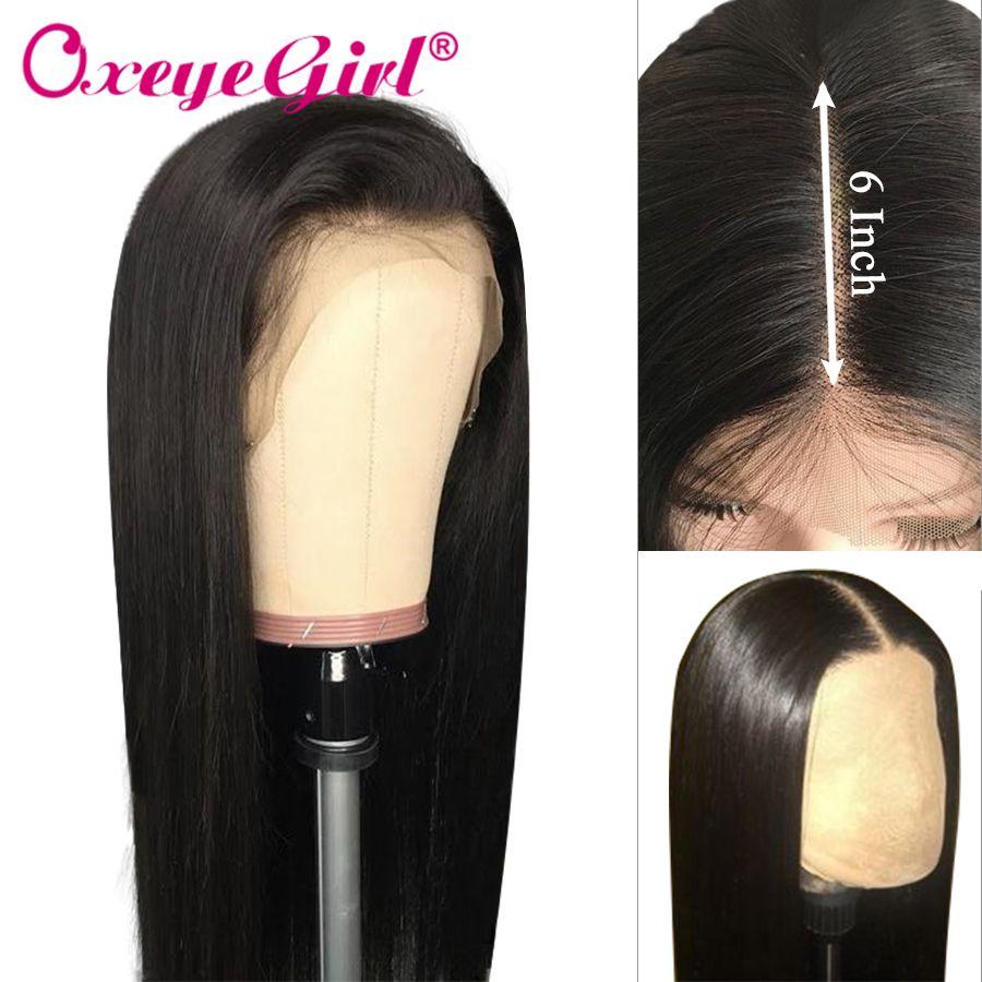 Oxeye fille 13x6 perruque avant en dentelle droite perruques de cheveux humains pour les femmes noires perruque de dentelle brésilienne avec des cheveux de bébé 13x4 perruque de dentelle Remy