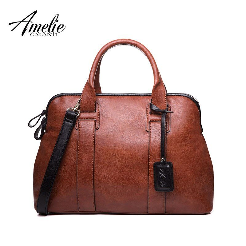 AMELIE GALANTI Women Handbags Casual Top-Handle Bags High Quality PU Leather