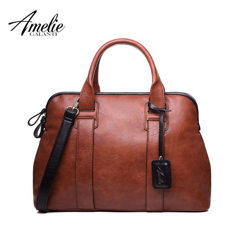 AMELIE GALANTI Women Handbags Casual Top-Handle Bags High Quality PU Leather