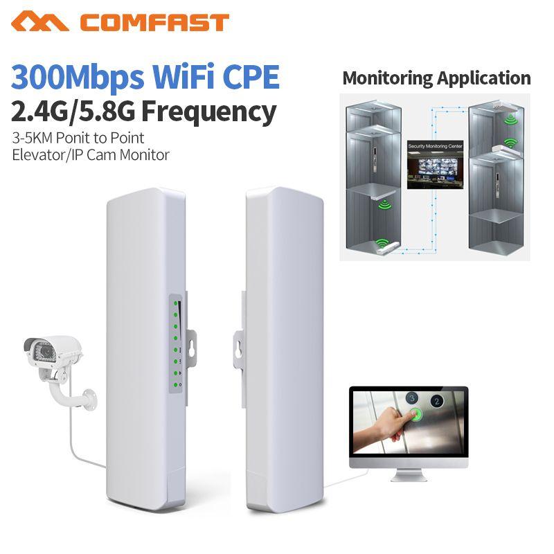 Comfast 27dBm High Power Freien Wifi Repeater 2,4G/5 GHz 300 Mbps Wireless Wifi Router AP WISP Wifi Extender 2 * 14dbi Antenne cpe