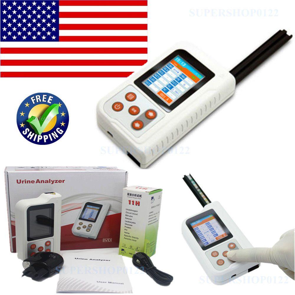 Bluetooth URIN ANALYSATOR BC401 2,4 ''LCD MicroUSB Monitor 11 Parameter Test + 100 stücke Test Streifen CONTEC