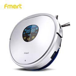 Fmart YZ-U1S Robot aspirador friegasuelos inteligente de UV esterilización  Robot aspiradora Anticolisión Anticaída Auto Carga Aspirador de Auto limpio en húmedo y seco mando a distancia Caja de basra 750ml