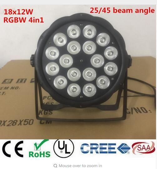 4pcs/lot New 18X12W RGBW 4in1 16 Bit Disco DJ Lighting DMX512 4/8CH dj dmx ktv led par