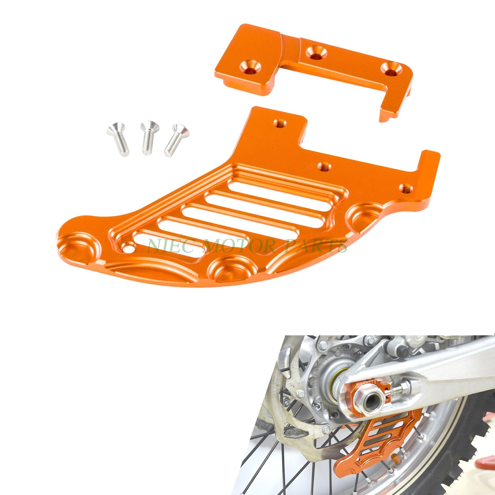 NICECNC Rear Brake Disc Guard Protector For KTM 85 125 150 200 250 300 350 400 450 525 530 560 EXC EXCF SX SXF XC XCF XCW SMR