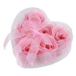 6 Pcs Lumière Rose Décoratif Parfumé Rose Bud Pétale Savon Faveur De Mariage
