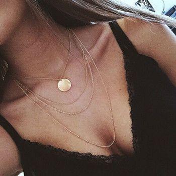 Nova moda na moda gargantilha colar multi camada de cobre de jóias presente para as mulheres Boho Camadas Gargantilhas Coleiras menina x242