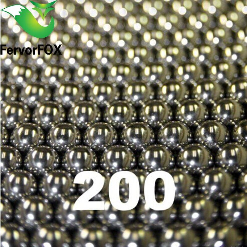 wholesale 200pcs/lot 6.35mm Steel Balls Hunting Slingshot Stainless AMMO outdoor