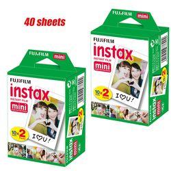 40 Sheets/2 Box Fujifilm Instax Mini 8 Film Instant White Edge Photo Paper 3 Inch Wide for Fuji Instax Mini8 7s 25 50s 90 camera