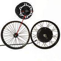 50 H QSV3 48 V-120 V 5000 W bicicleta eléctrica hub de rueda de motor FD 269 con rueda delantera con hub 20mm kit