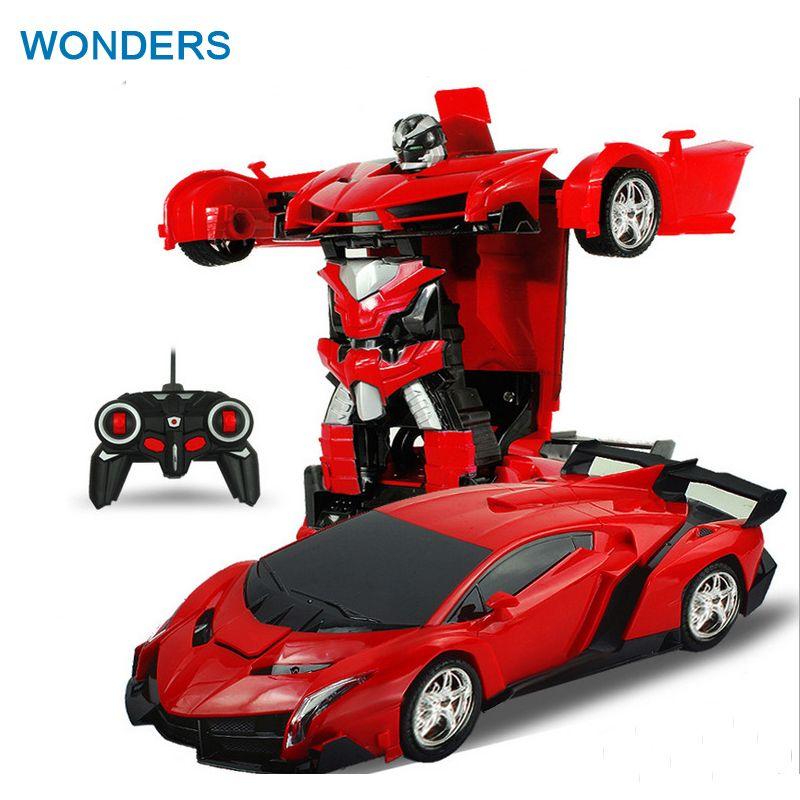 2In1 RC Voiture De Sport De Voiture Transformation Robots Modèles Télécommande Déformation De Voiture RC combats jouet Cadeau D'anniversaire de KidsChildren