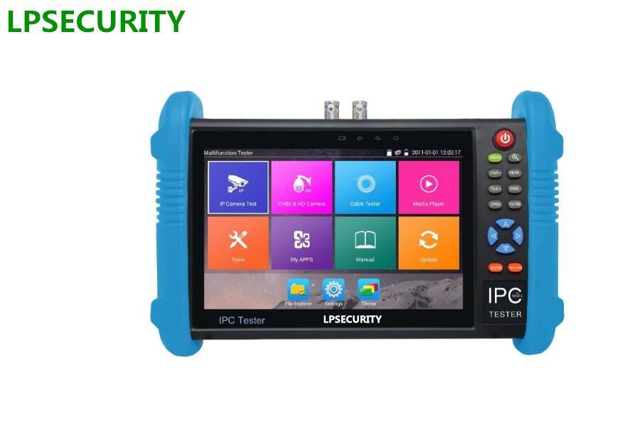 LPSECURITY 4K H.265/H.264 AHD TVI HDCVI SDI IP Analog camera tester (multimeter, cable locator,TDR,HDMI input optional)