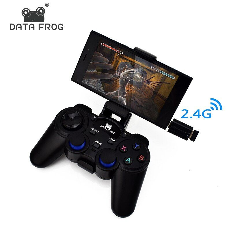 Data Frog Android Controller 2.4 G Wireless Gamepad Universal <font><b>Joystick</b></font> For Android Smart Phone For PC Tablet <font><b>Joysticks</b></font>