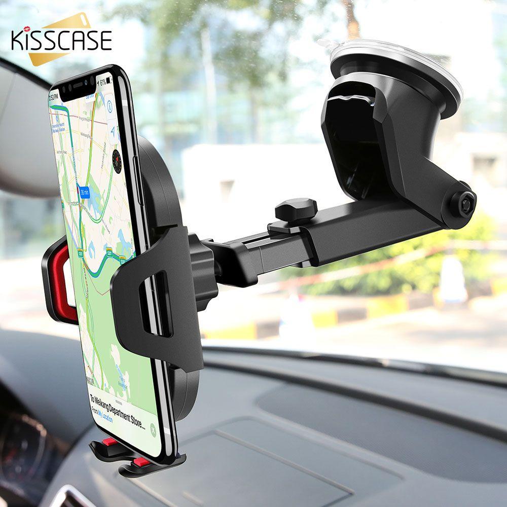 KISSCASE pare-brise gravité ventouse Voiture Support pour téléphone pour iPhone X Support pour téléphone dans la Voiture Support Mobile Smartphone Voiture Stand support smartphone voiture