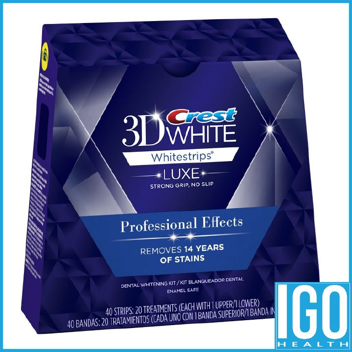 Crest 3d white teeth Whitestrips Luxe Professional effect 1 box 20 Pouches Original Oral Hygiene Teeth Whitening strips