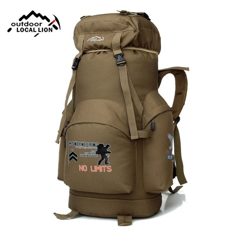 2018 80L Outdoor Backpack Camping Bag Waterproof Mountaineering Hiking Backpacks Molle Sport Bag Climbing Rucksack