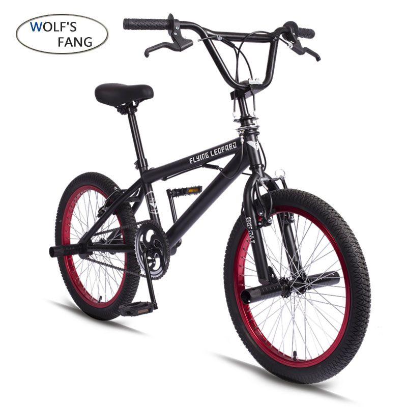 BMX 20 Inch BMX bike steel frame Performance Bike purple/red tire bike for show Stunt Acrobatic Bike rear Fancy street bicycle