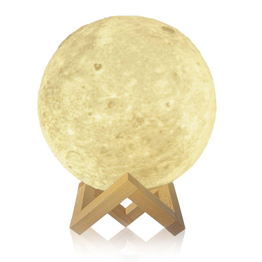 8-20 см Dia 3D печать Луны лампы USB LED Night Light подарок touch Сенсор 2/3/ 7 цветов Изменение Перезаряжаемые ночника Украшения в спальню