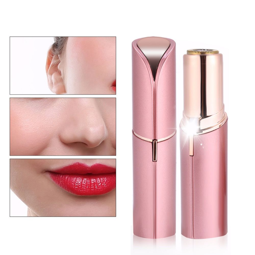 Women Finishing Touch Hair Remover Flawless Hair Removal Electric Face Epilator Wax Machine USB Recharge Lipstick <font><b>Shaving</b></font> Tool