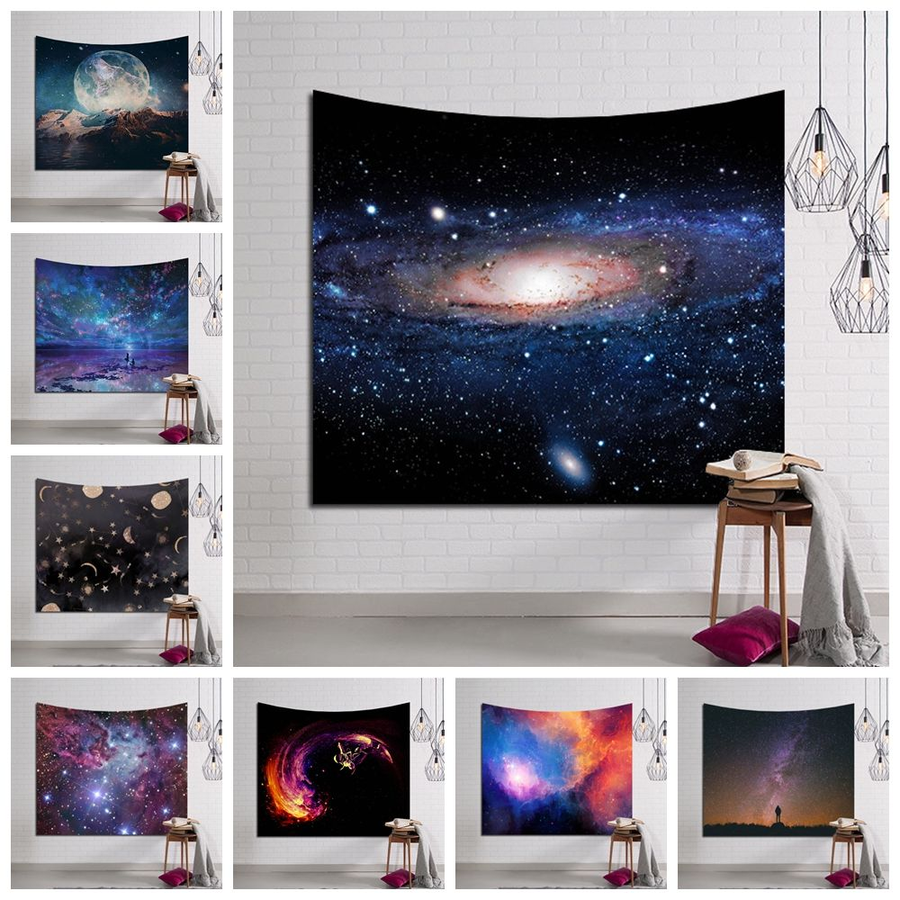 Galaxy Hanging Wall Tapestry Hippie Retro Home Decor Yoga Beach Towel 150x130cm/150x100cm YYY9233