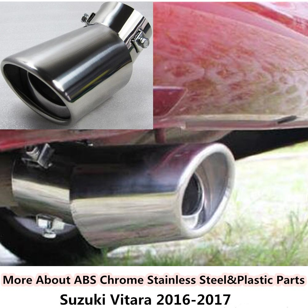 Hot sale for Suzuki Vitara 2016 2017 car Styling cover muffler exterior end pipe dedicate stainless steel exhaust tip tail 1pcs