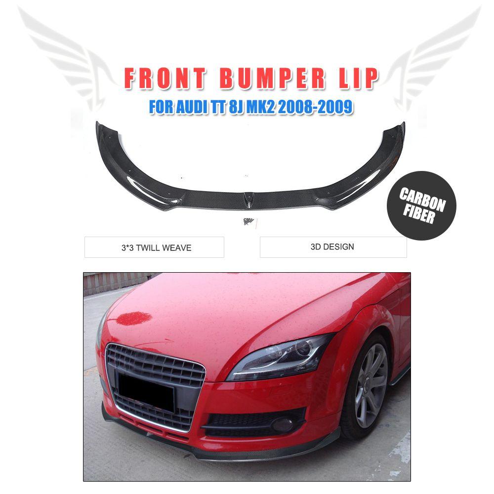 Carbon Fiber Front Lip Spoiler für Audi TT 8J MK2 Cabrio Coupe 2-Tür 2008-2009 Kopf Stoßstange schutz Auto Tuning Teile