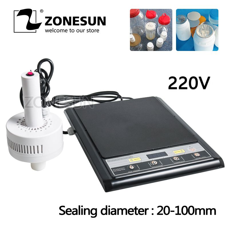 ZONESUN GLF-500F micro sealing machine hand-held electromagnetic induction aluminum foil sealing Continuous Induction Sealer