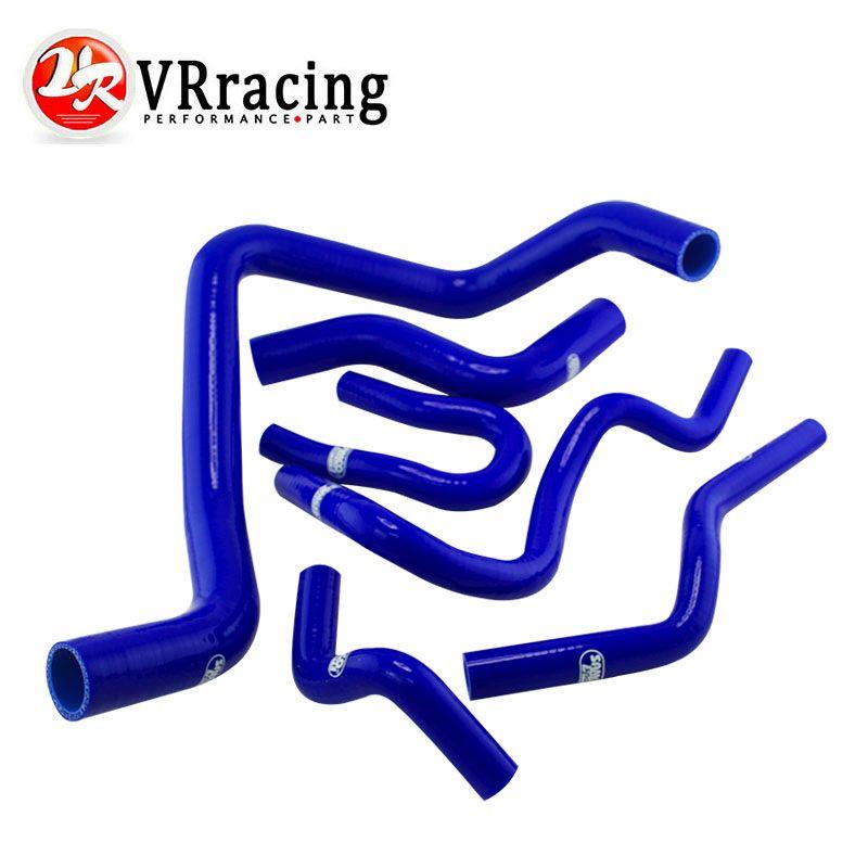 VR RACING - 6PC Silicone Radiator Hose,Silicone hose kit W/logo For HONDA CIVIC DOHC Type R DC2 EK4/9 B16A/B B18C VR-LX1304C-BL
