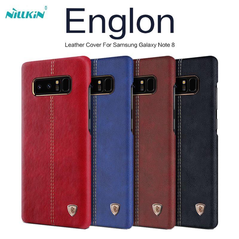 NILLKIN Englon couverture en cuir Pour Samsung galaxy S8/s8 plus capa de luxe Vintage PU Étui En Cuir pour galaxy note 8 livraison gratuite
