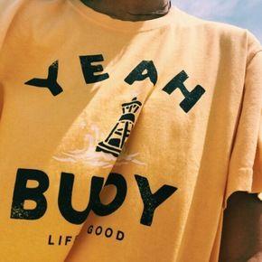 Kuakuayu HJN ouais bouée poisson chemise ouais bouée bateau chemise ouais bouée à manches courtes t-shirts